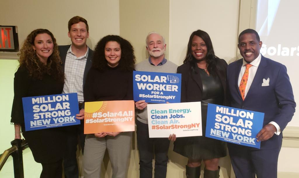 On Tuesday, Senator Parker and Assemblymember Walker joined advocates in the call for the creation of a resilient, solar-based economy in New York.