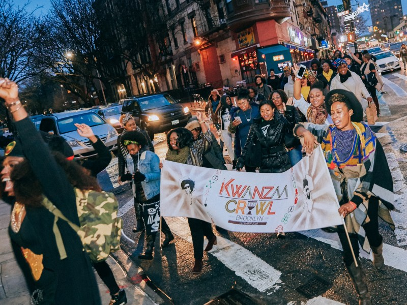 Organizers expect close to 4,000 revelers descending on more than 30 bars in Central Brooklyn and Harlem.
