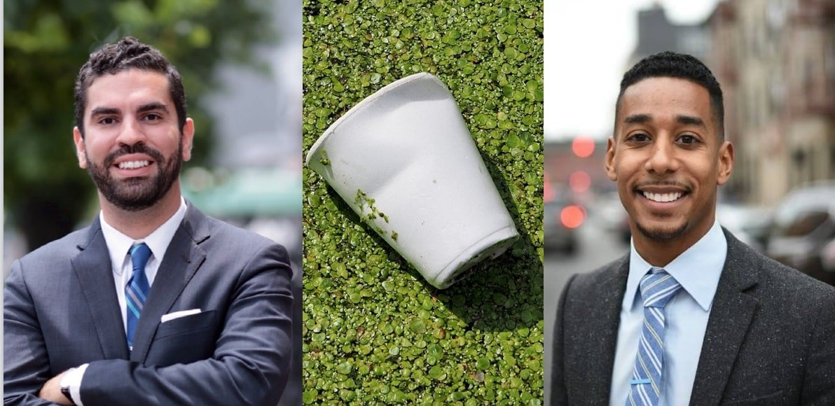 Each year, New Yorkers throw away 60 million pounds of styrofoam products, a major source of neighborhood litter and petroleum-based waste.