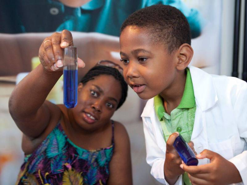 Little Brooklynites can now put on the lab coats and explore the world of science while navigating Brooklyn Children's Museum newest exhibit Science + You.