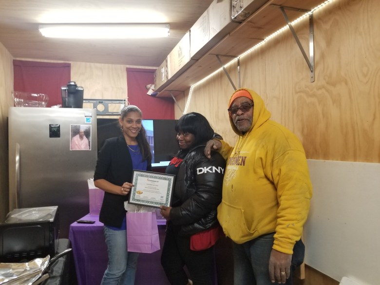 After completing the 16-week program, the residents at Marcus Garvey Apts. have developed new skills and built a new community clubhouse