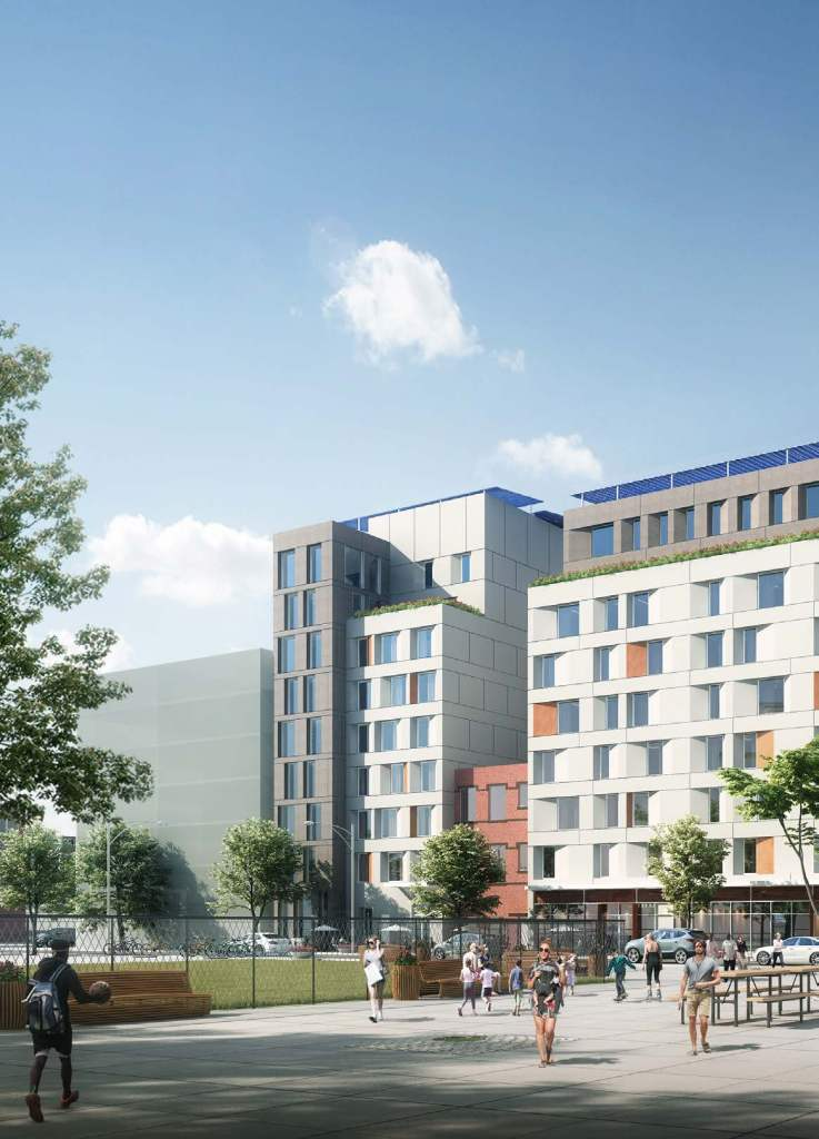 The development plan will allow for the construction of 5 buildings that will include commercial and community space, along with over 380 new apartments