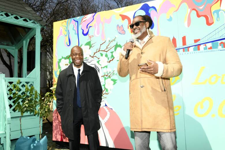 Bed-Stuy's Hattie Carthan Community Garden is spring ready with new garden beds, plants, benches, picnic tables and a mural!