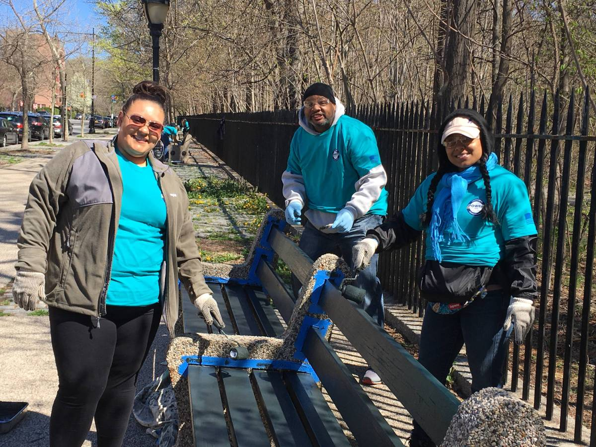 Prospect Park, Brooklyn's arboreal wonderland, got a little TLC from 75 volunteers in observation of Earth Day