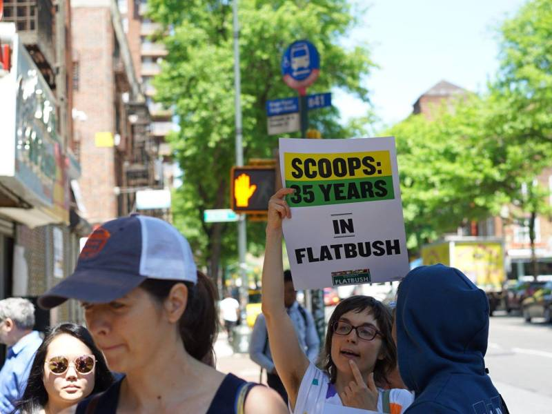 Community organizers have launched a petition urging landlords to renew the lease of Scoops, one of the oldest Caribbean-owned businesses in Flatbush