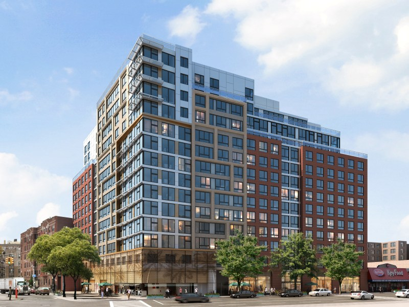 Flatbush Caton Market's new home, a 14-story building, will also bring 255 affordable apartments and over 20,000 feet of community and retail space