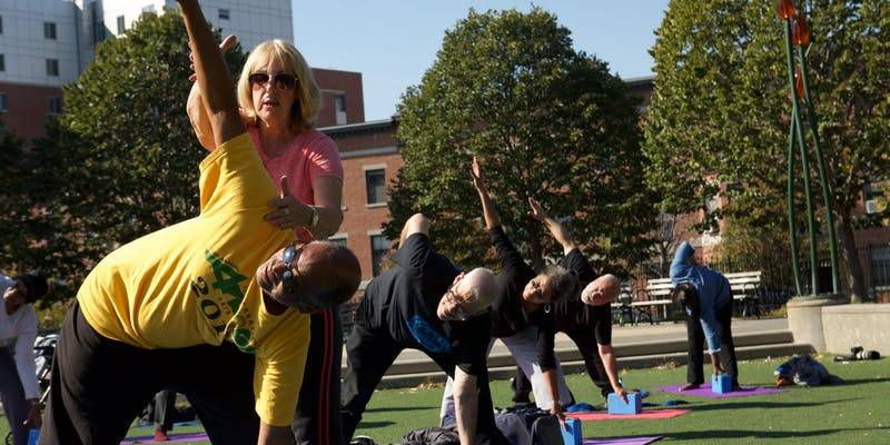 Brooklyn seniors can now find their balance and zen with free yoga classes in Clinton Hill.