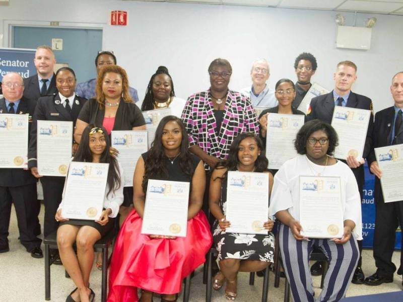 Among the honorees were firefighters, EMTs and students, as well as a government official, a social worker,a librarian, an engineer and an author, at Brooklyn Hospital.