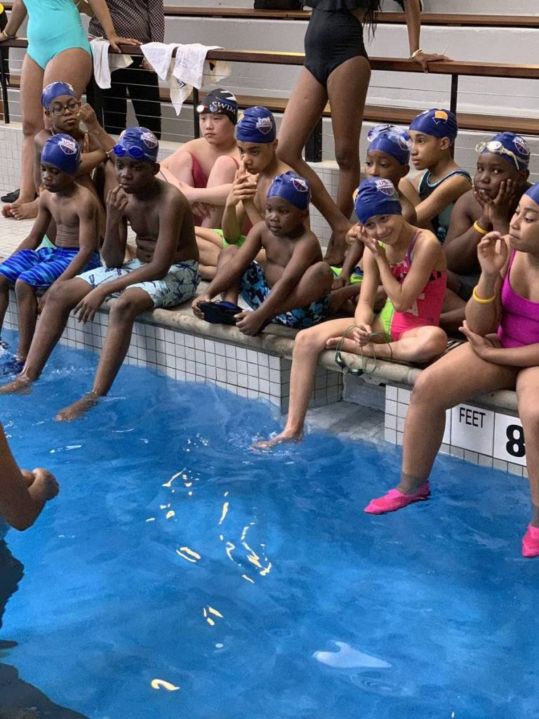 On Saturday, East Flatbush residents learned the basics of water safety during a swim clinic led by 2004 Olympic silver medalist Maritza McClendon at the Thomas S. Murphy Clubhouse.