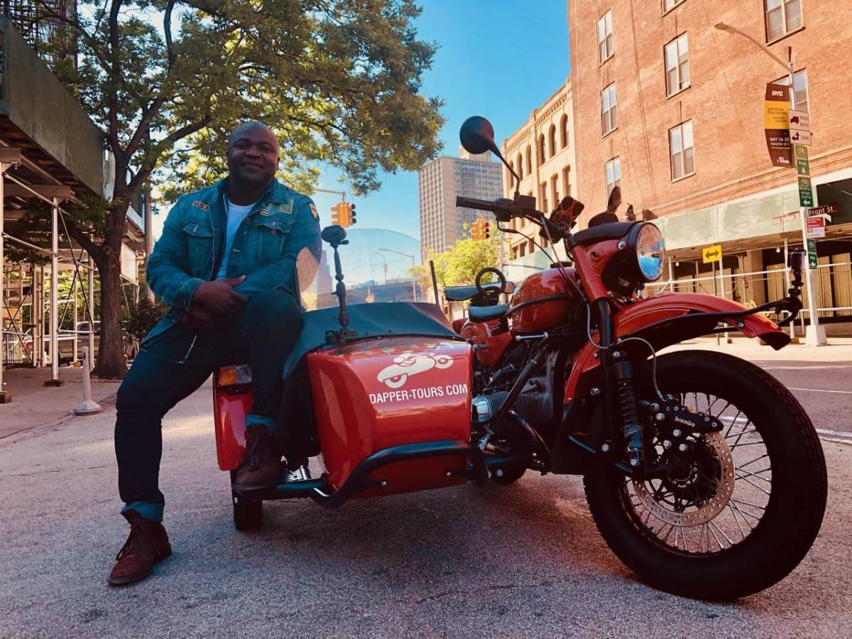 Dapper Tours, BK Reader, Will D., sidecar motorcycles, motorcycle tours, tours of Brooklyn