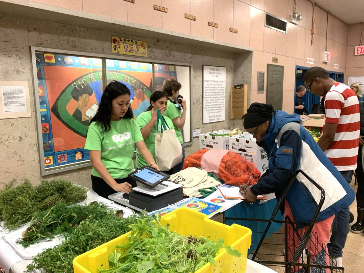 Grown inside their classroom, Brownsville students are now selling veggies and fruits to local residents through the Fresh Food Box program