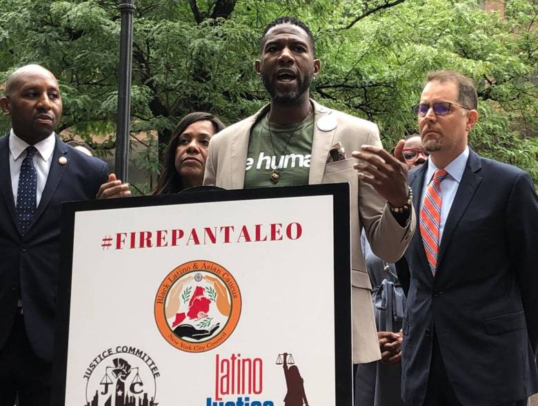 In a joint letter, members of the City Council's Black Latino Asian and Progressive Caucuses, the termination of Pantaleo and all officers involved in Eric Garner's death