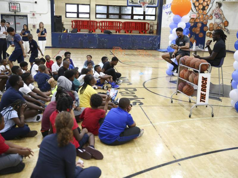 Brownsville Kids were in for a special treat on Thursday when Brooklyn Nets' stars Spencer Dinwiddie and Taurean Prince hosted a story hour at Brownsville Recreation Center.