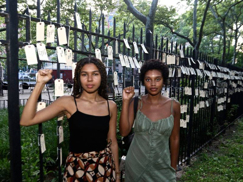 Fort GreenPark Memorial for the 1377 Black citizens killed at the hands of police Photo: Dennis Manuel