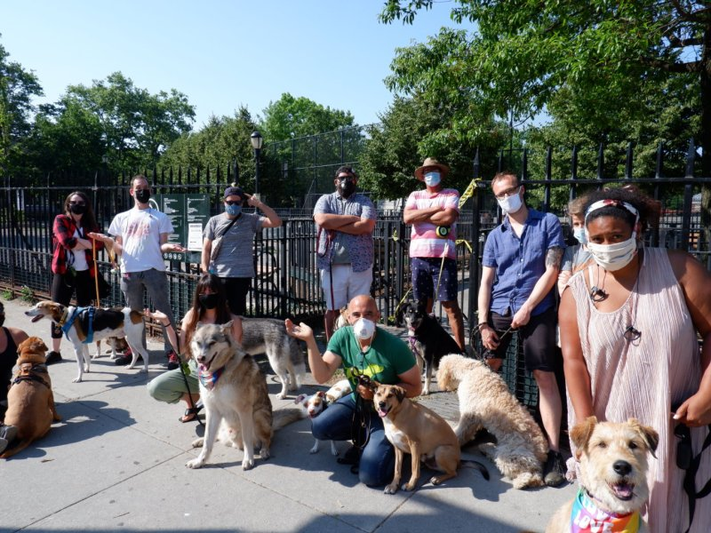 Let the dogs in! Brooklyn dog owners demand de Blasio to open city dog runs