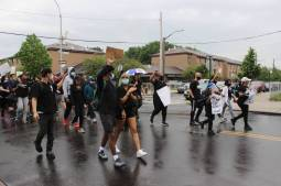 Black Lives Matter peaceful protest in East New York. Photo by Anna Bradley-Smith.