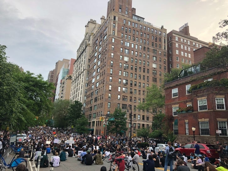 PHOTOS: UES Vigil For George Floyd Grows On Second Night