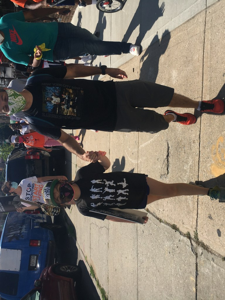 Seth and Adelina Fleischman marched in support of their community. Photo: Anna Bradley-Smith for BK Reader.