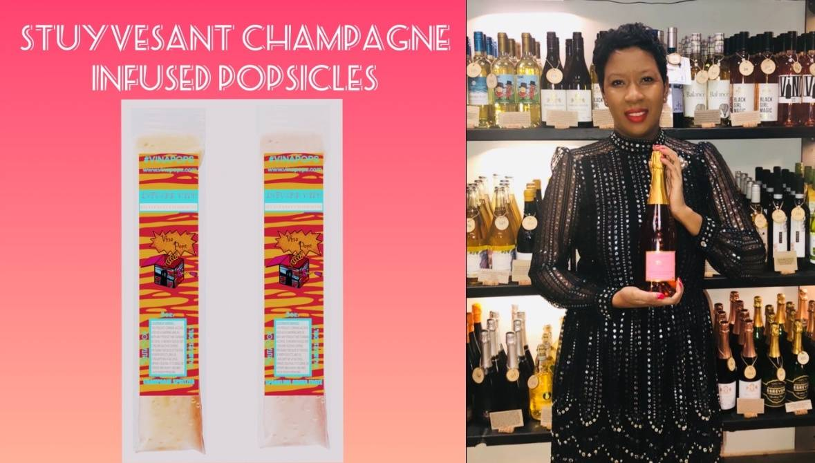 Marvina Robinson is releasing champagne popsicles. Photo courtesy of Marvina Robinson.