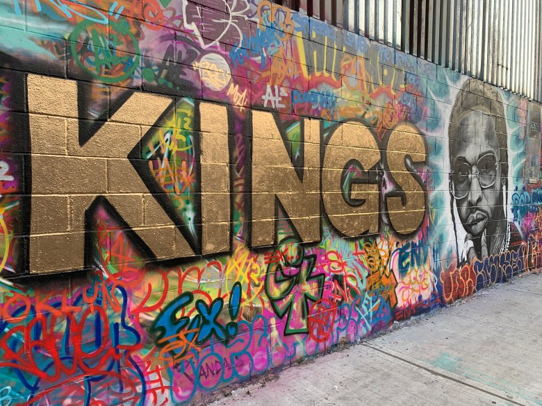 Brooklyn Kings mural on Atlantic Ave. Photo: Courtesy of Will Power.