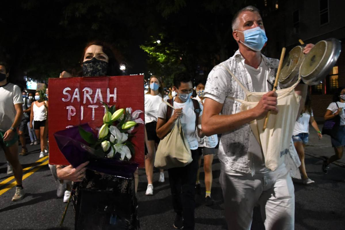 Vigil for slain cyclist Sarah Pitts ends with police aggression