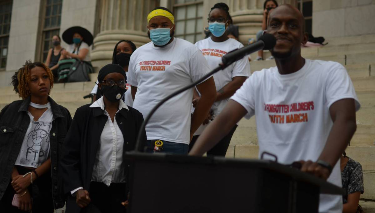 Rally for Foster Care youth at Borough Hall