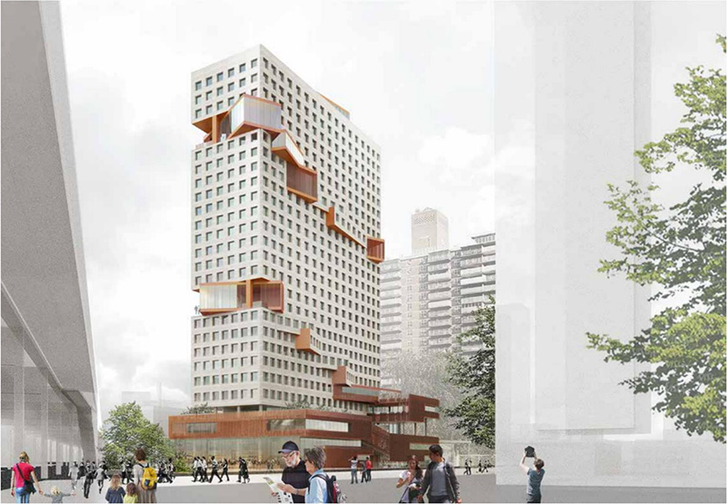 Exclusive New Renderings Reveal The Collective's 28-Story Flagship at 555 Broadway in Brooklyn