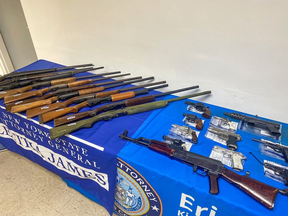 AG James takes dozens of guns off the streets at Brooklyn gun buyback in joint effort with DA Gonzalez and NYPD