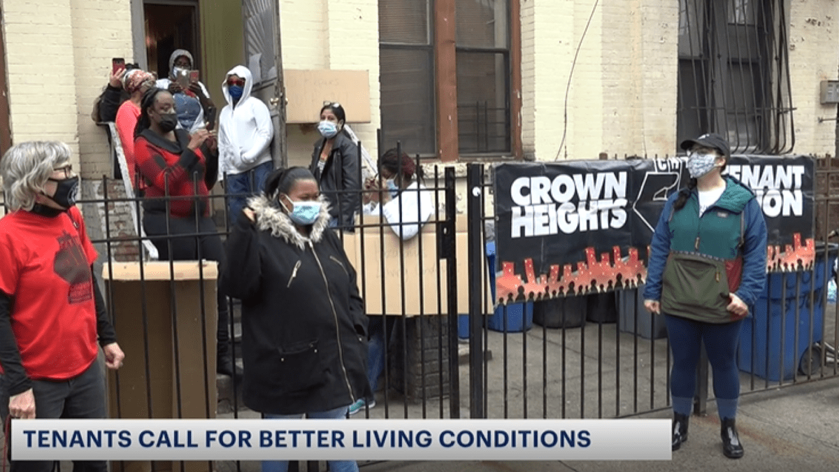Crown Heights tenants say landlord neglects to repair building's deteriorating conditions
