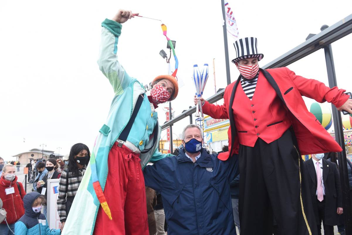 Amusement Parks Reopen in a Much-Needed Boost for Coney Island