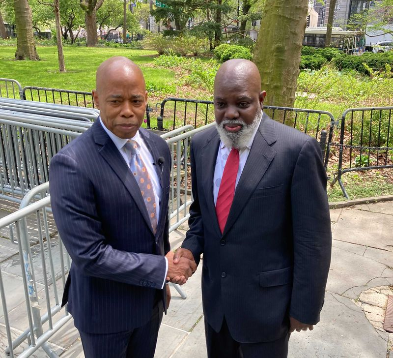 'He would be a mayor to unite each and everyone': Abner Louima endorses Eric Adams for City Hall