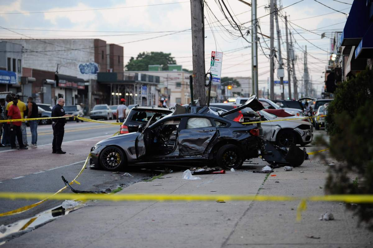 One dead, one in critical condition after major East Flatbush car crash