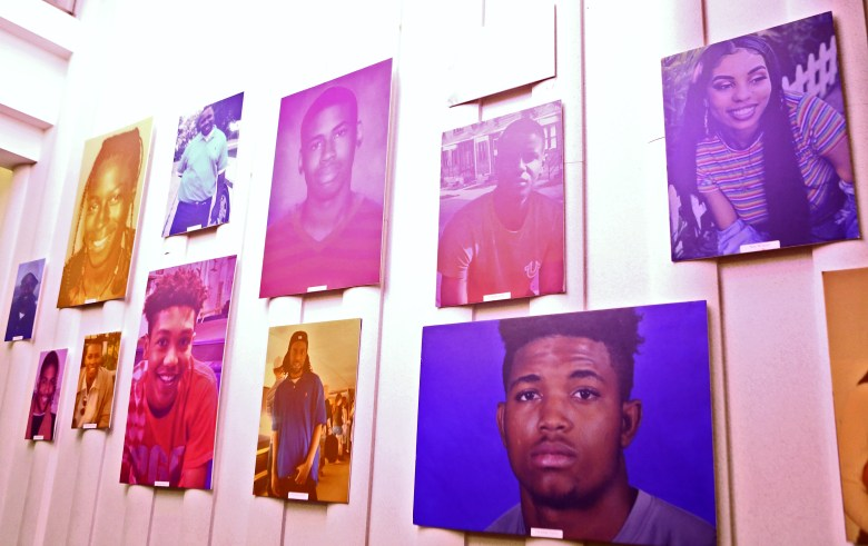 Photo display of lives lost to racialized violence