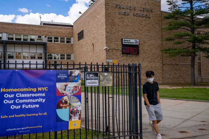 Crowded NYC schools experiment with new schedules, spaces and furniture arrangements to keep 3 feet of distance