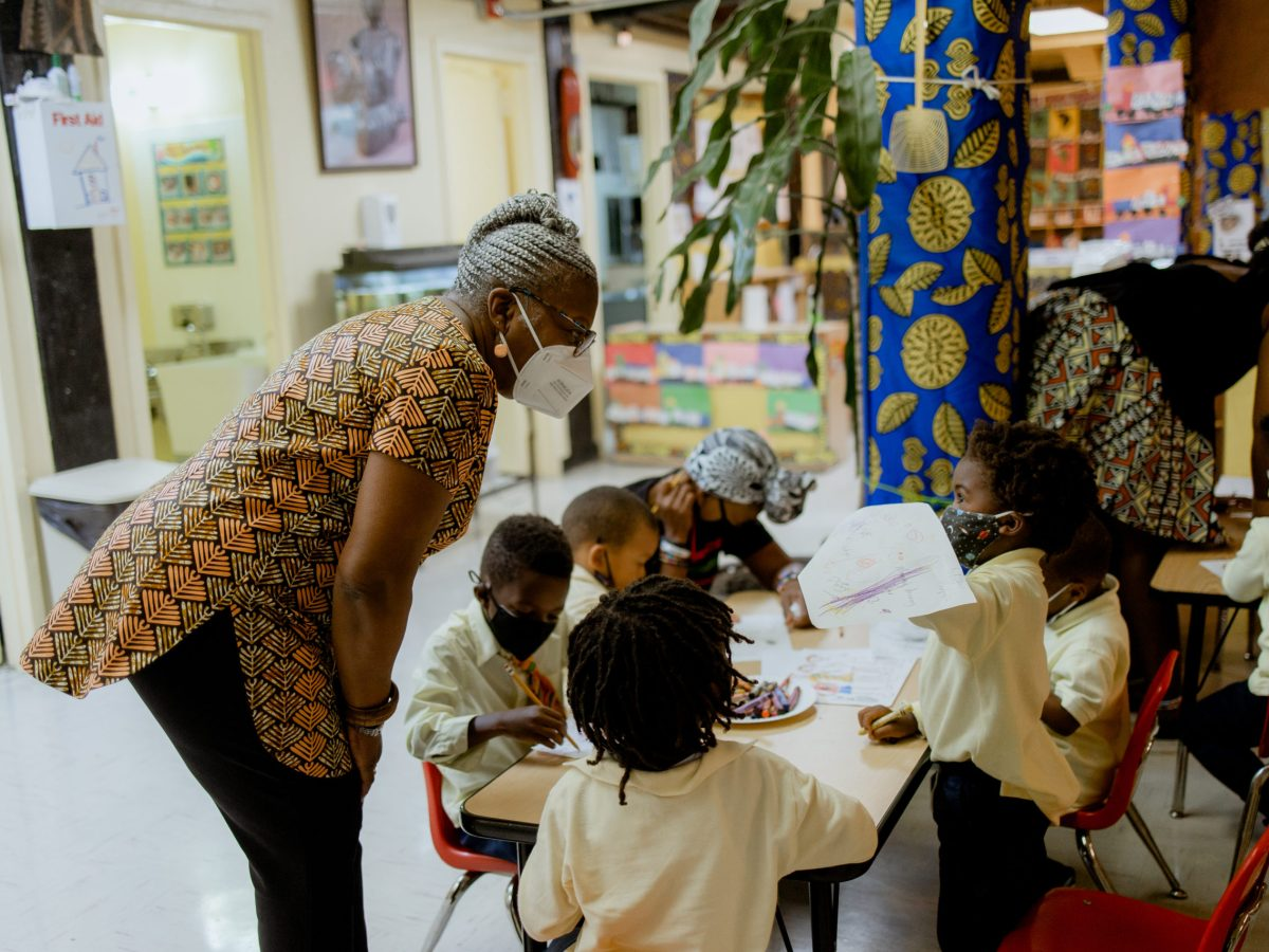 Behind the scenes at the Little Sun People, an Afrocentric preschool in Bed-Stuy. Photo: Cootchill Nelson.