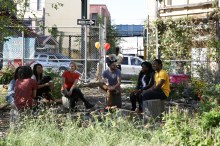 The BK ROT team chats at Know Waste Lands