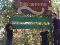 Hanging up the sign