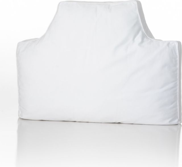headboard pillow white online only