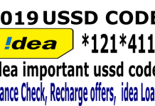 Idea balance check, idea offers, idea ussd codes 2019