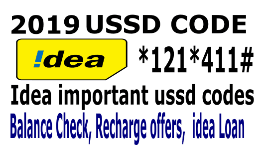 Idea balance check, idea offers, idea ussd codes 2019