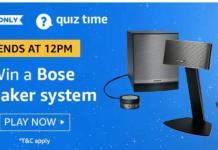amazon 13 august quiz answer