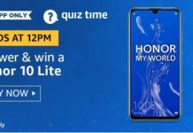 amazon today quiz 21 august