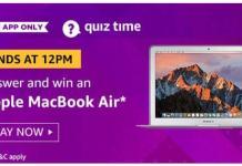 amazon today quiz answer 30 august apple macbook