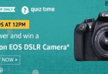 amazon today quiz canon dslr