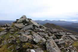 The summit cairn of Sgurr a' Mhuilinn
