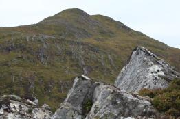 Looking up to Meallan nan Uan
