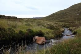 Crossing the burn on the way back down