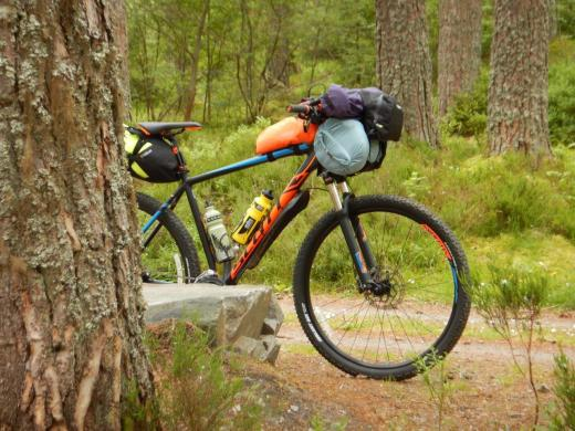 On the bikepacking trip from Inverness to Ullapool.