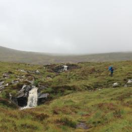 Climbing alongside the Allt na h-Uidhe.