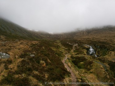 Heading into Coire Odhar at the start of day two.